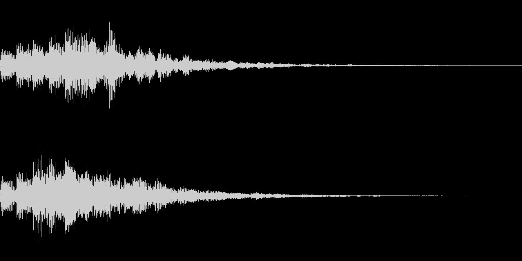 琴のような和風なSEです。の未再生の波形