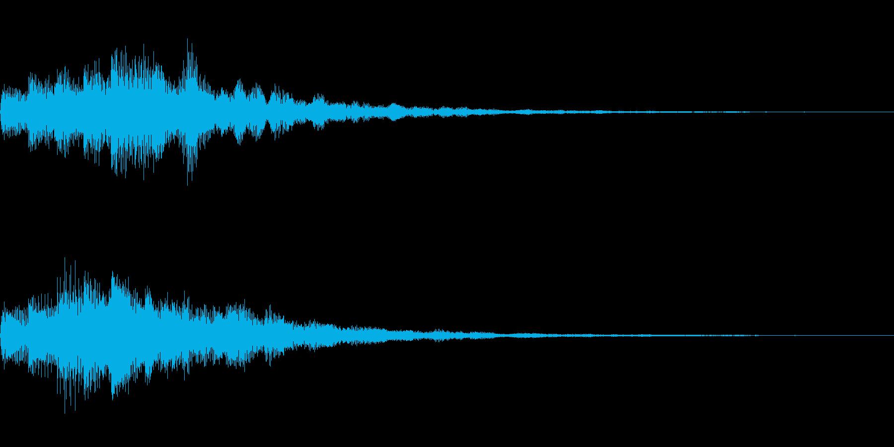 琴のような和風なSEです。の再生済みの波形