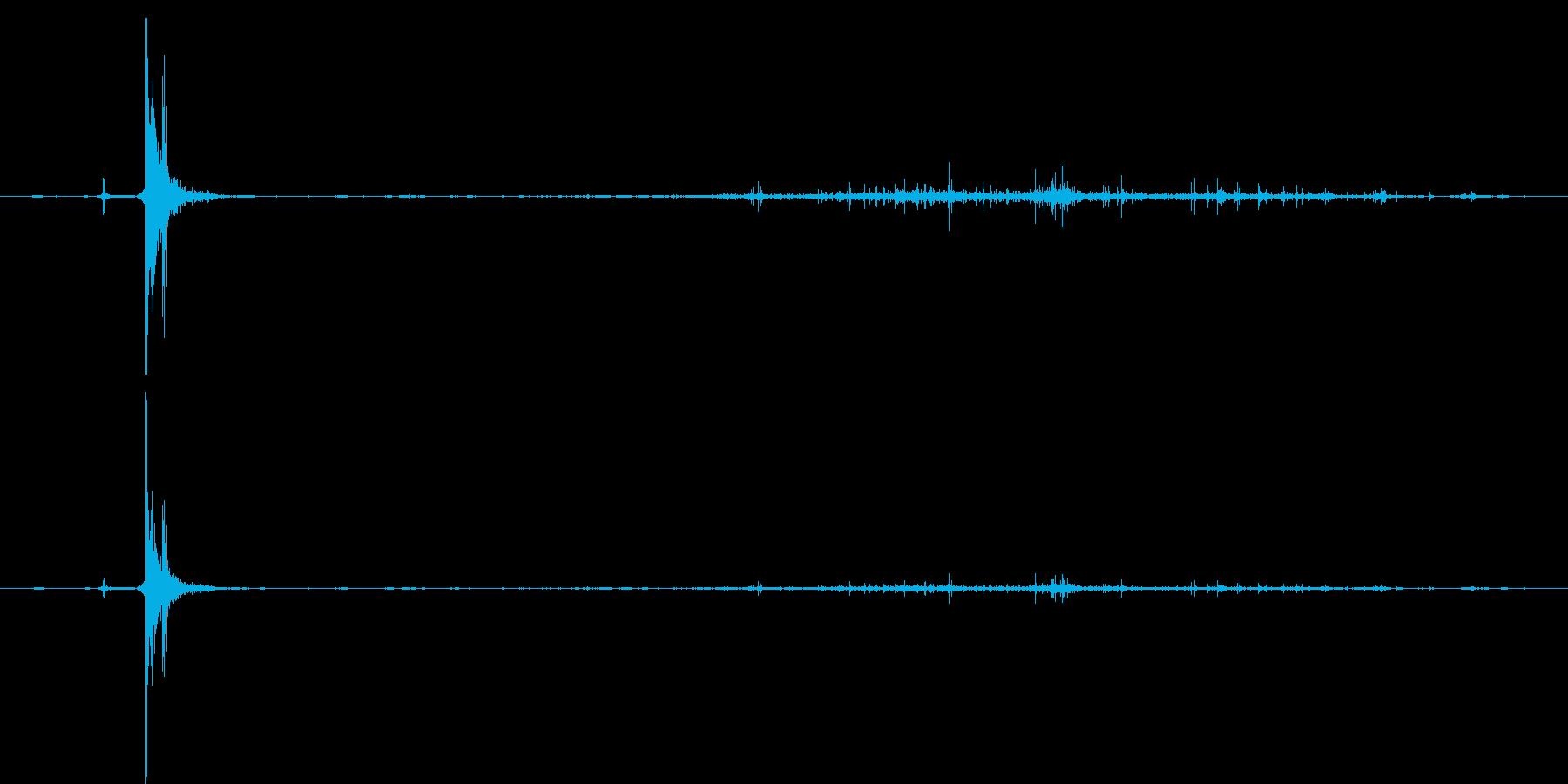 マッチで火をつける音の再生済みの波形