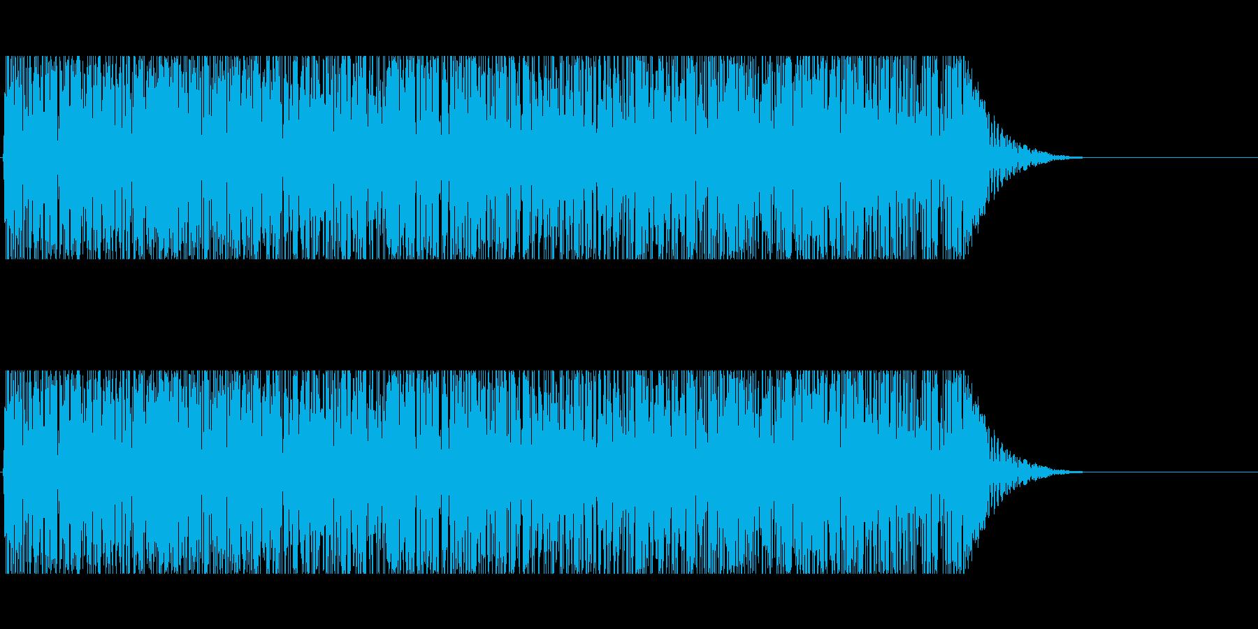 トンネル内を走る音の再生済みの波形