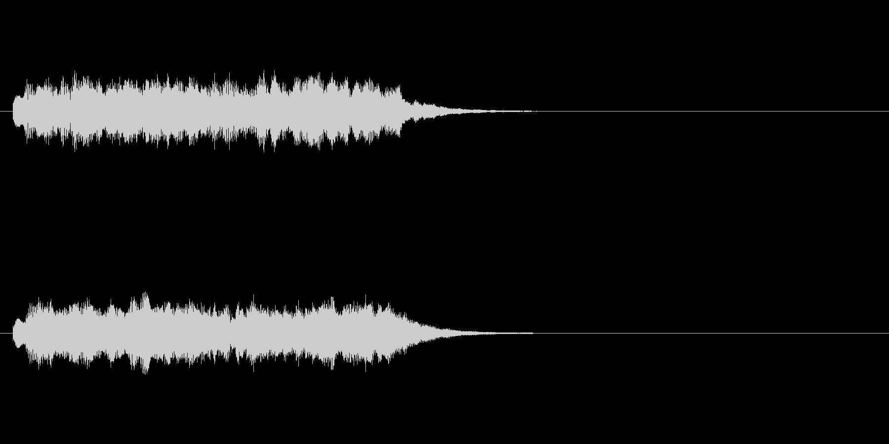 ジングル(サイエンスチック)の未再生の波形