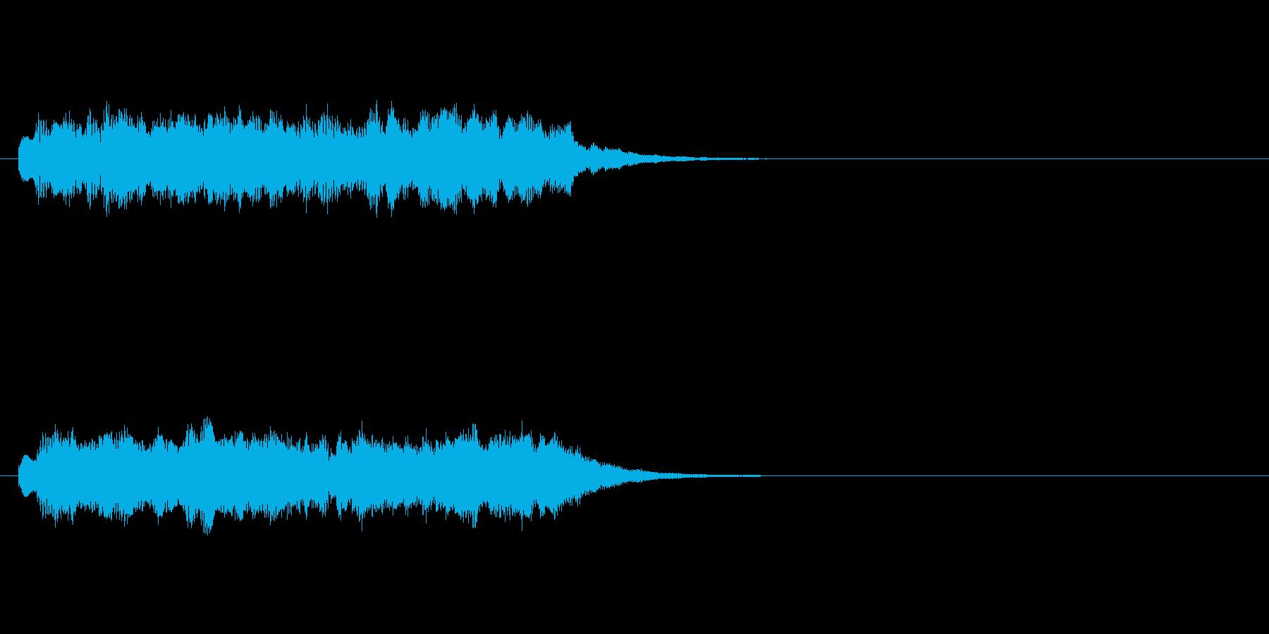 ジングル(サイエンスチック)の再生済みの波形