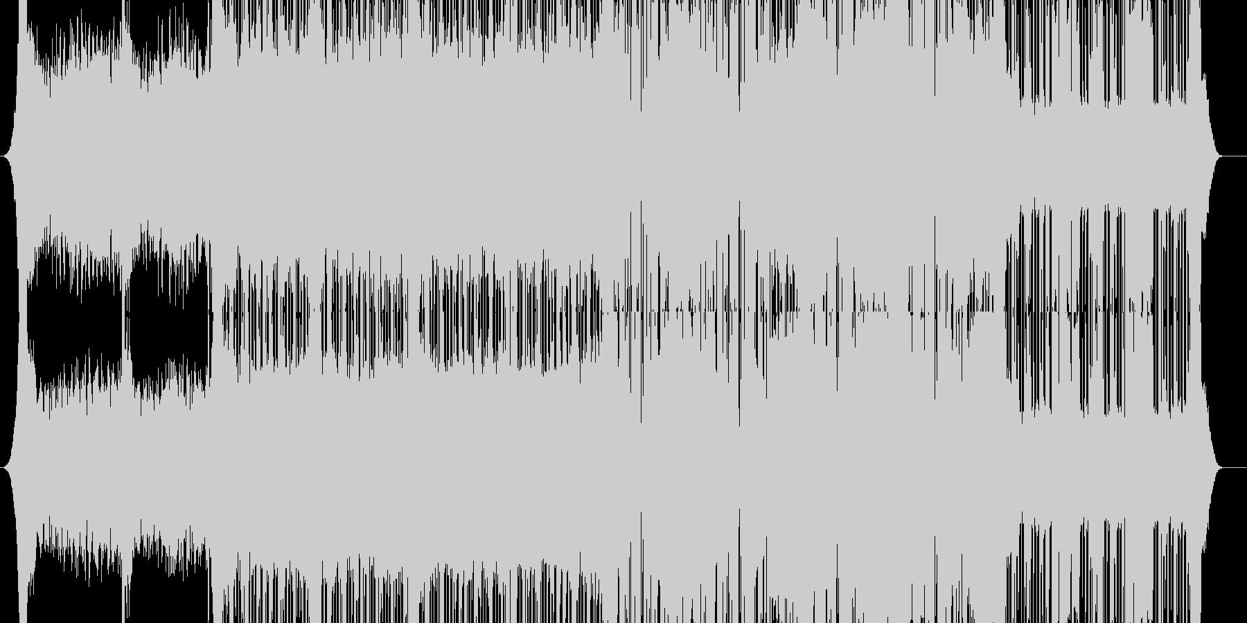幻想的なダブステップの未再生の波形