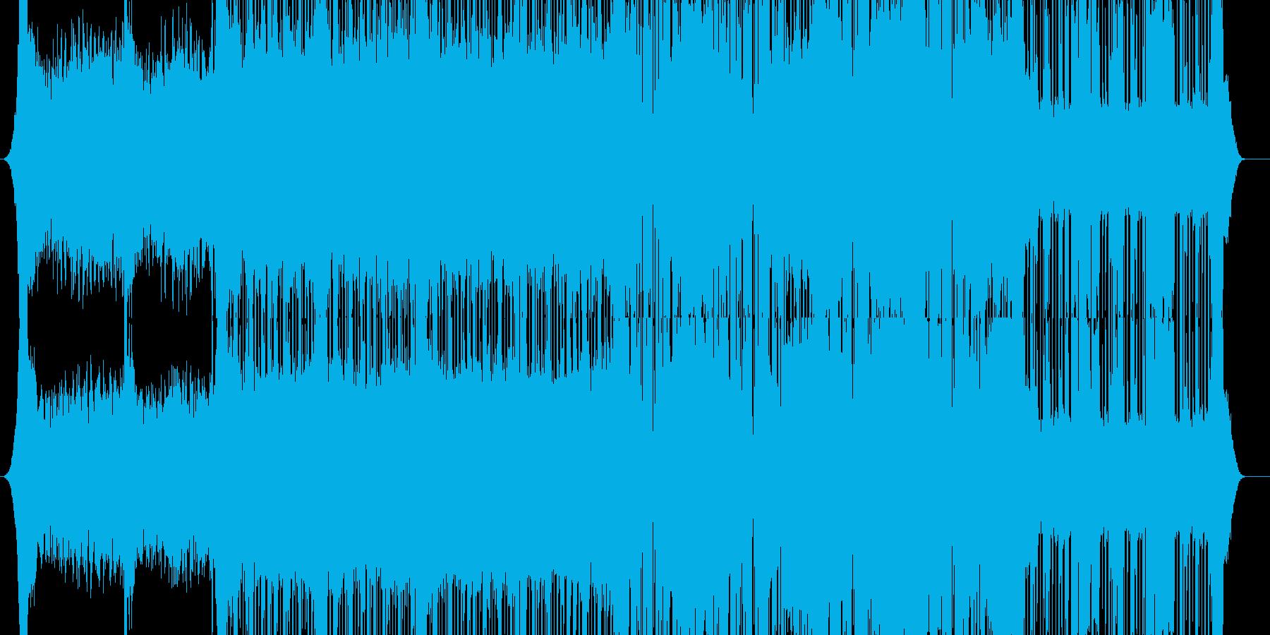 幻想的なダブステップの再生済みの波形