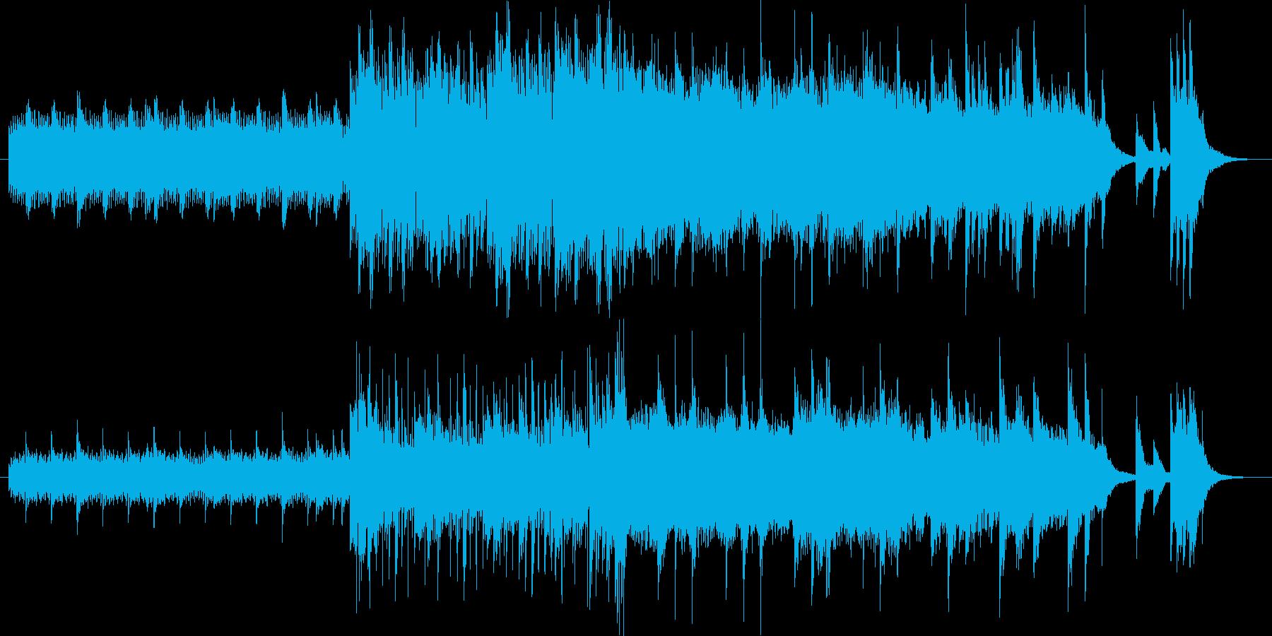 華やかな美しい煌きイメージのピアノ曲の再生済みの波形