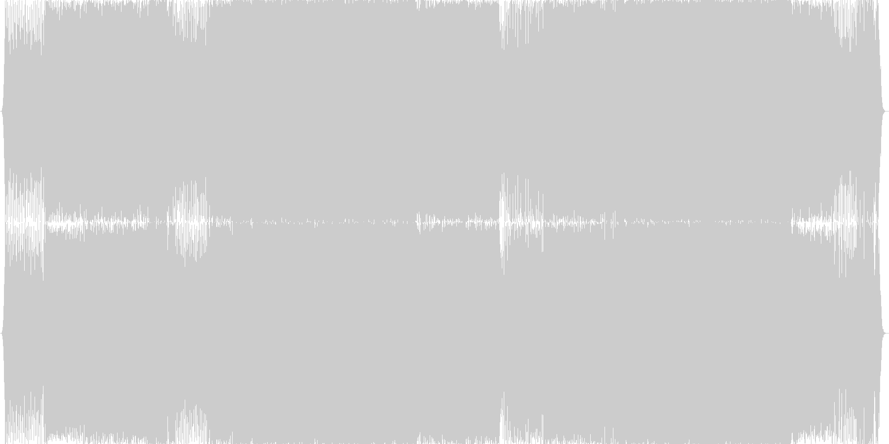 インスト曲の未再生の波形