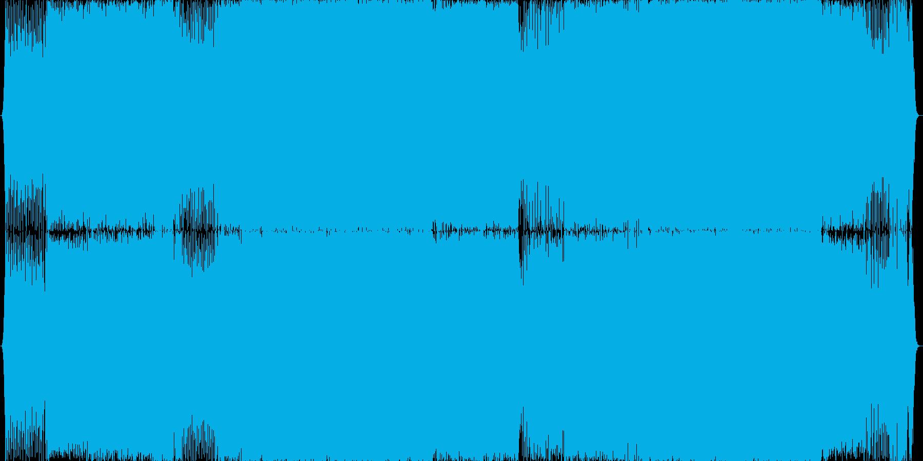 インスト曲の再生済みの波形