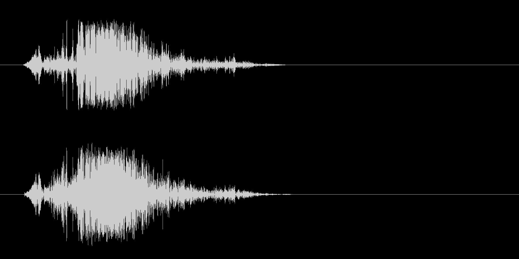 プシュという勢いのよいエアー音の未再生の波形