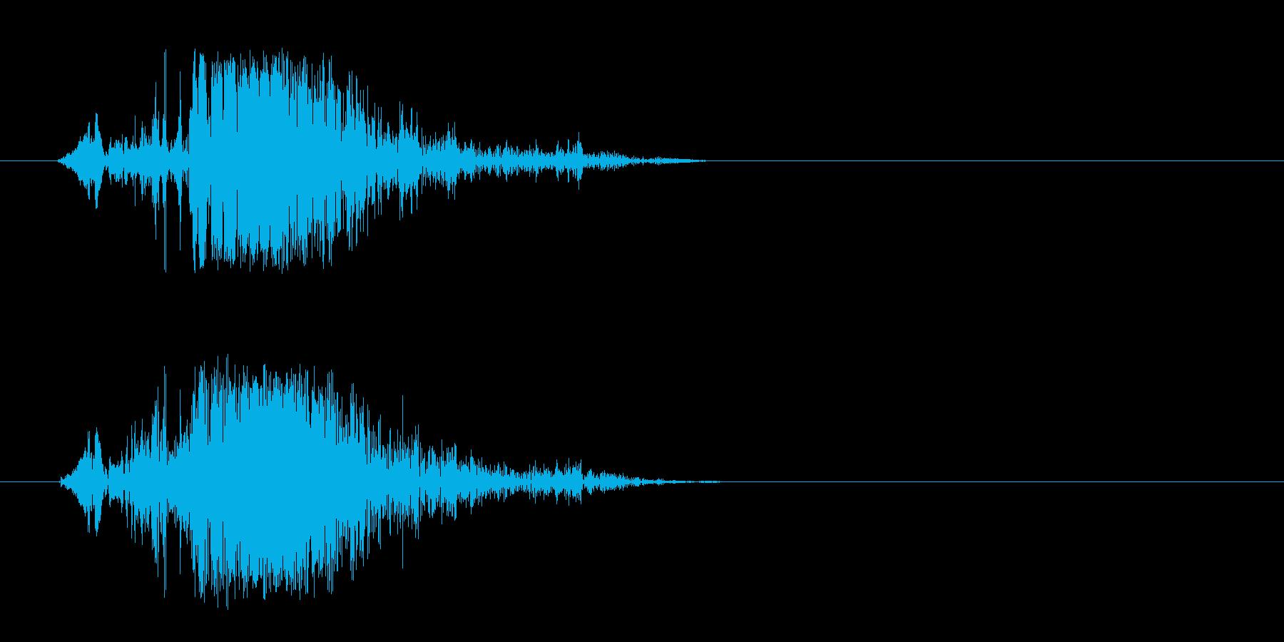 プシュという勢いのよいエアー音の再生済みの波形