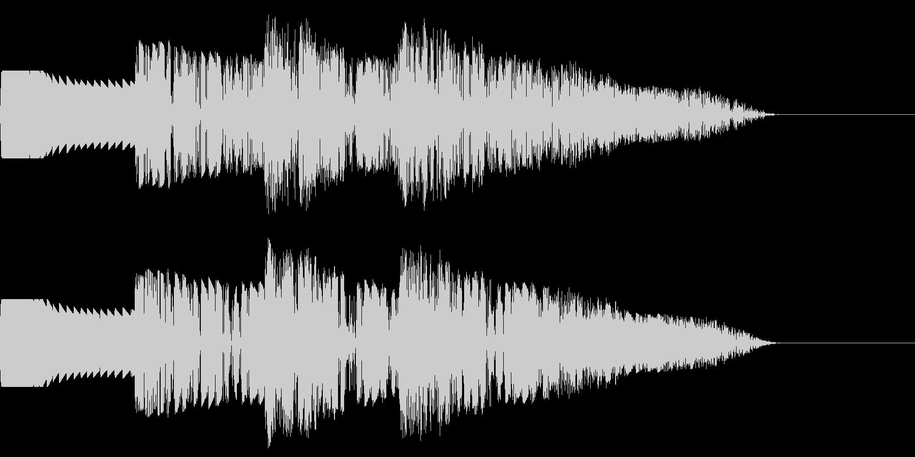 ダダダダ:連続で打撃音の未再生の波形
