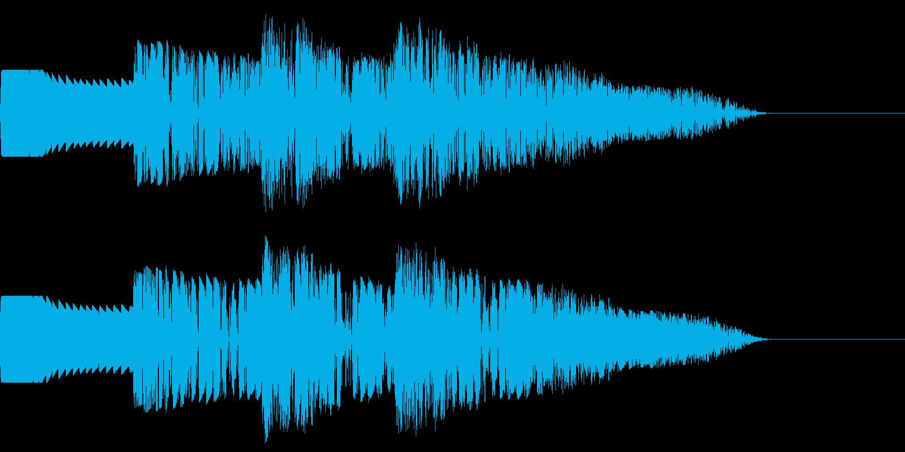 ダダダダ:連続で打撃音の再生済みの波形