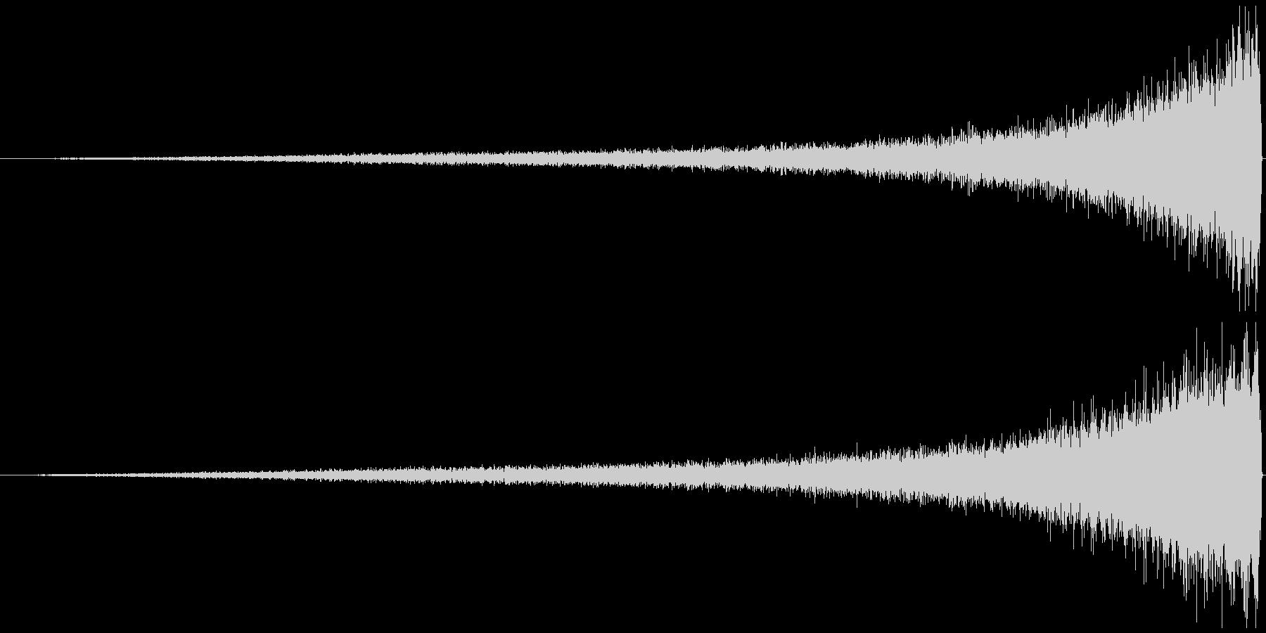 リバースシンバル シャーーーー↑徐々に大の未再生の波形