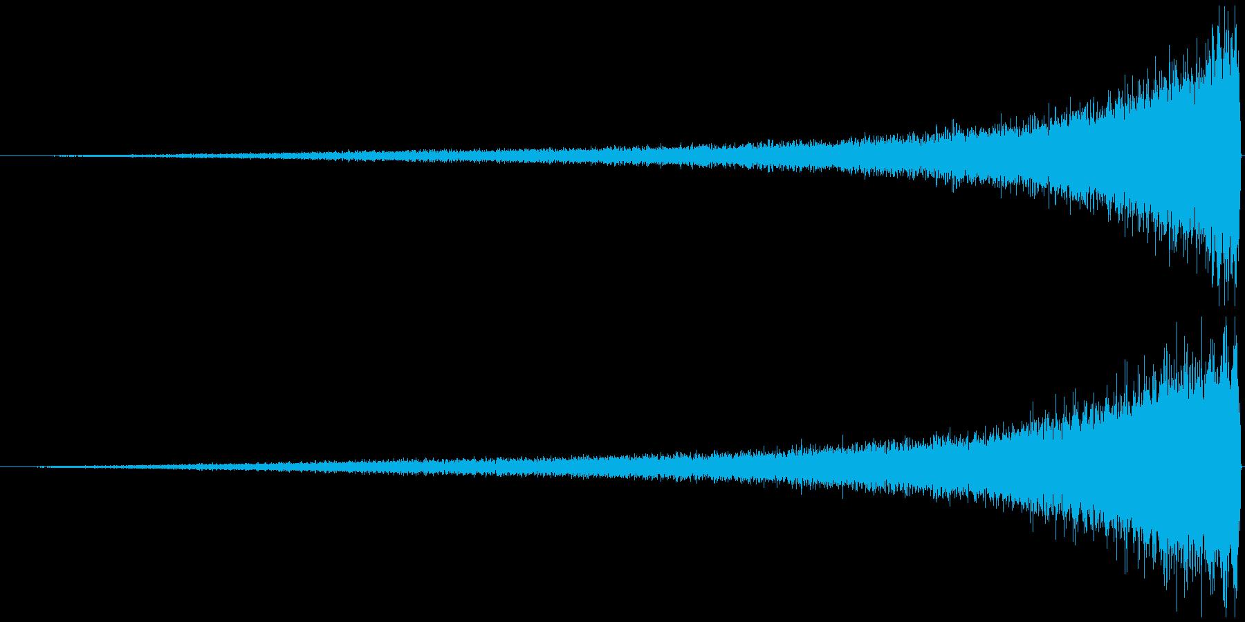 リバースシンバル シャーーーー↑徐々に大の再生済みの波形
