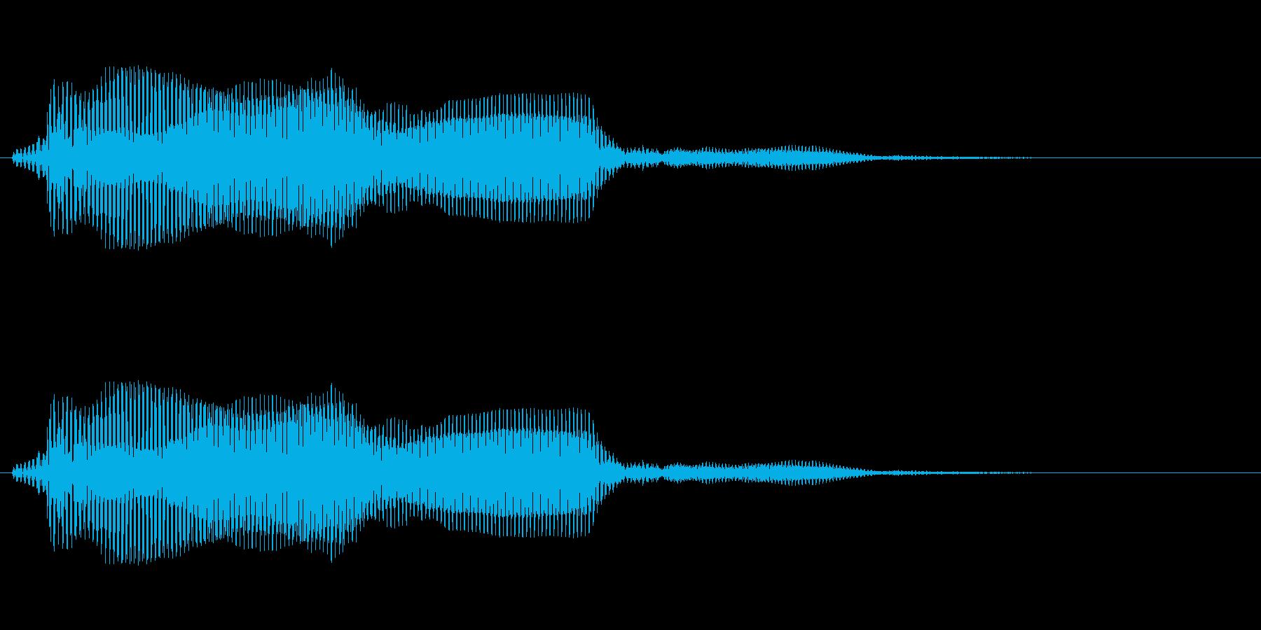 ゾンビの発声に 8の再生済みの波形