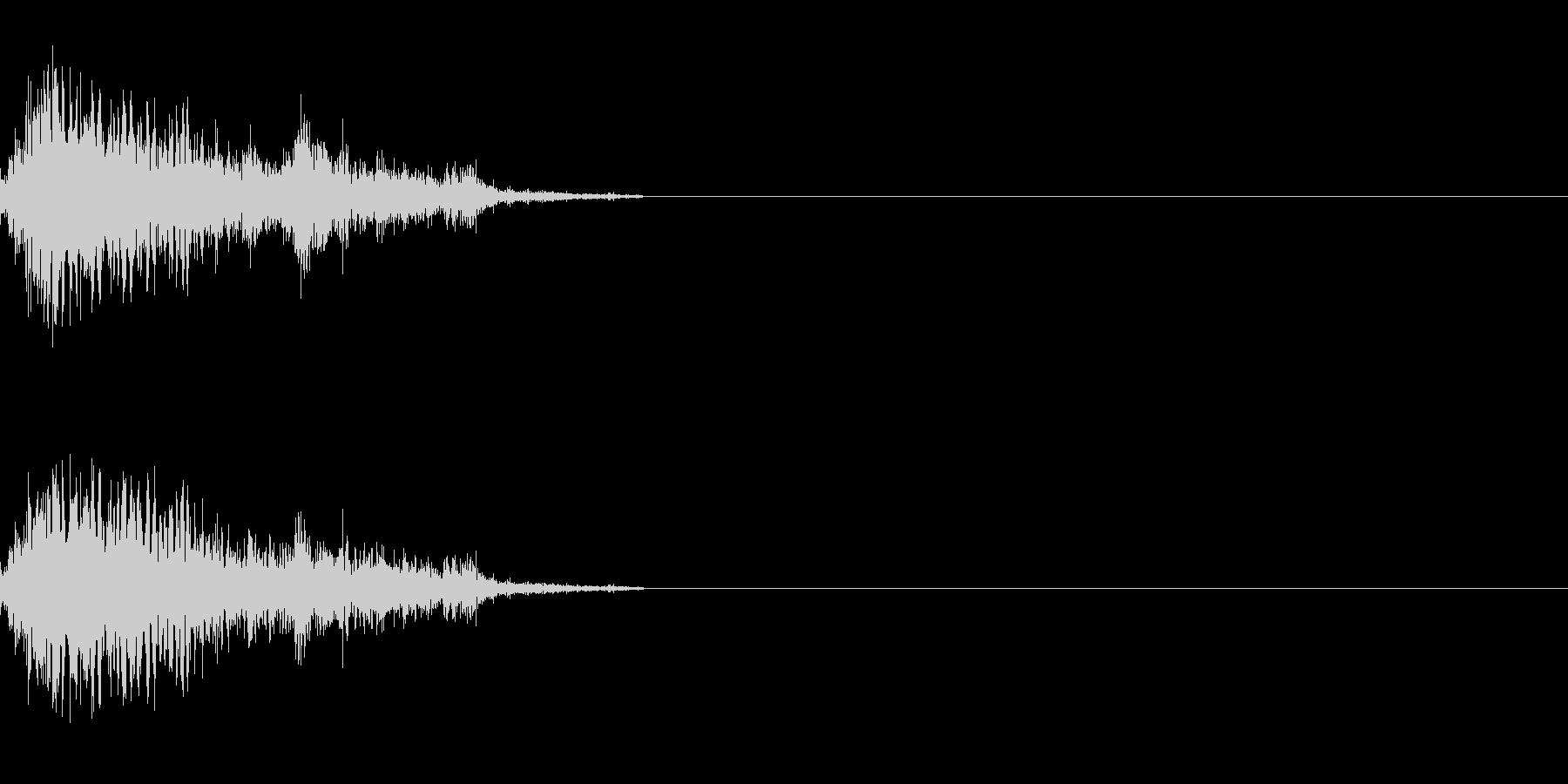 ジャンプ音 2の未再生の波形