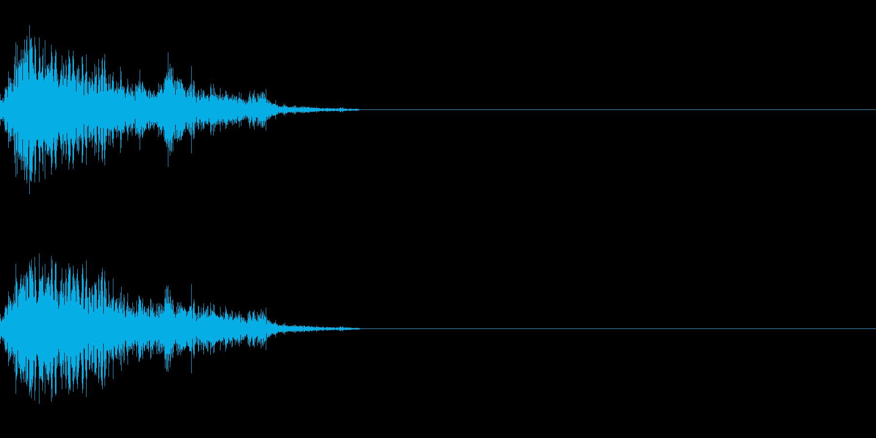 ジャンプ音 2の再生済みの波形