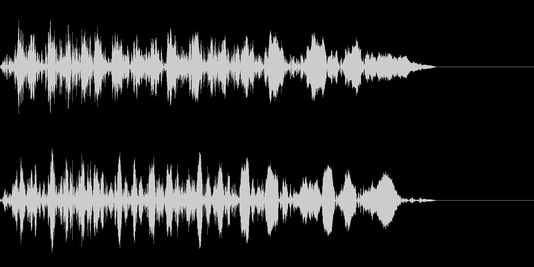 ギューン:テープストップの音(短)の未再生の波形