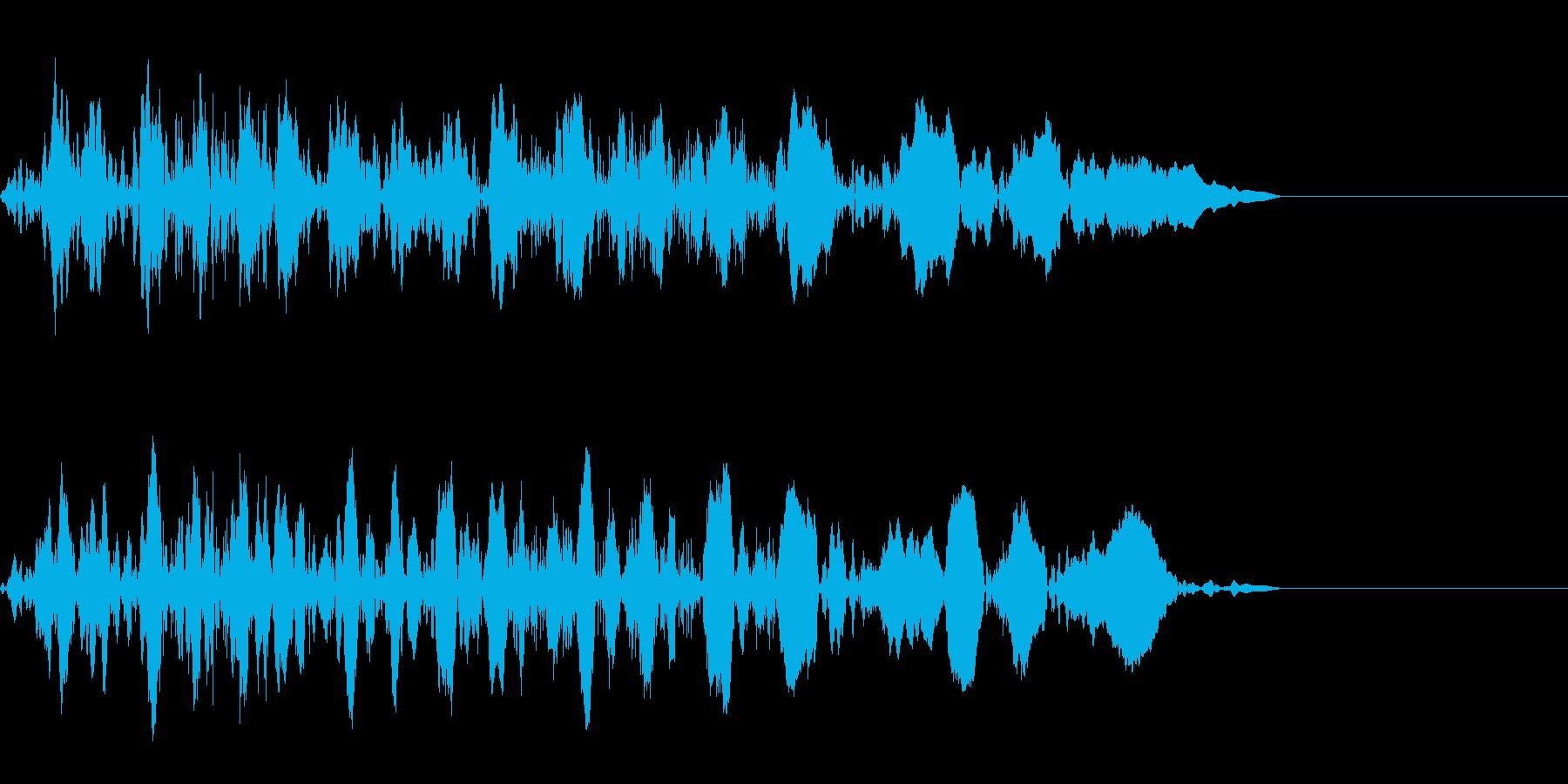 ギューン:テープストップの音(短)の再生済みの波形