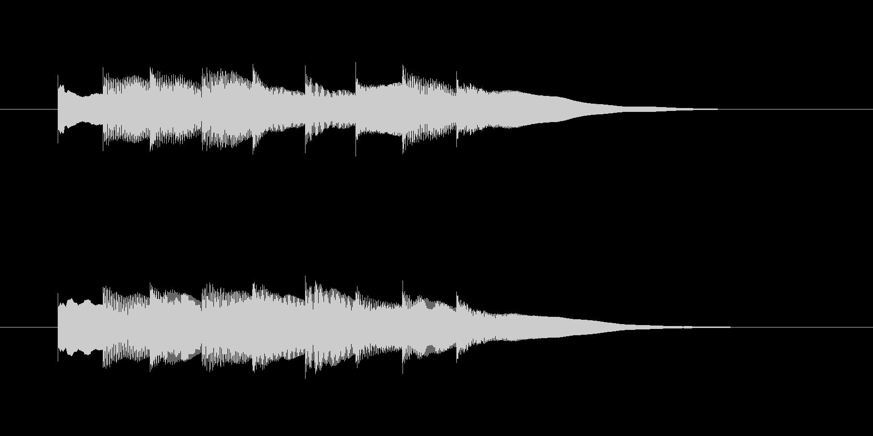 案内放送音の未再生の波形