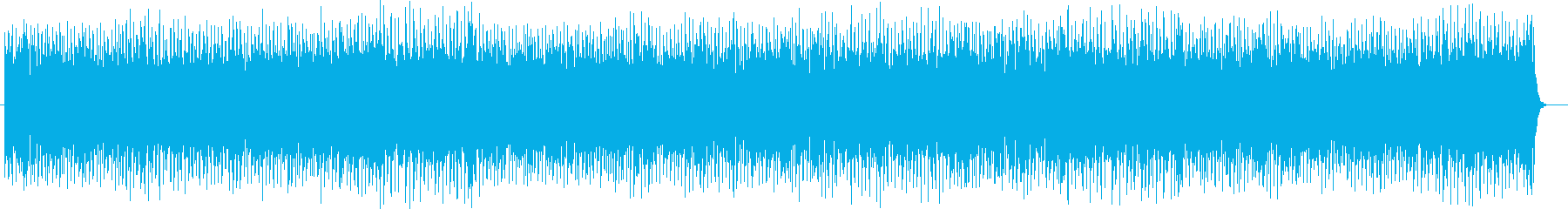 緊迫感漂う音色の早いテンポが特徴のテクノの再生済みの波形
