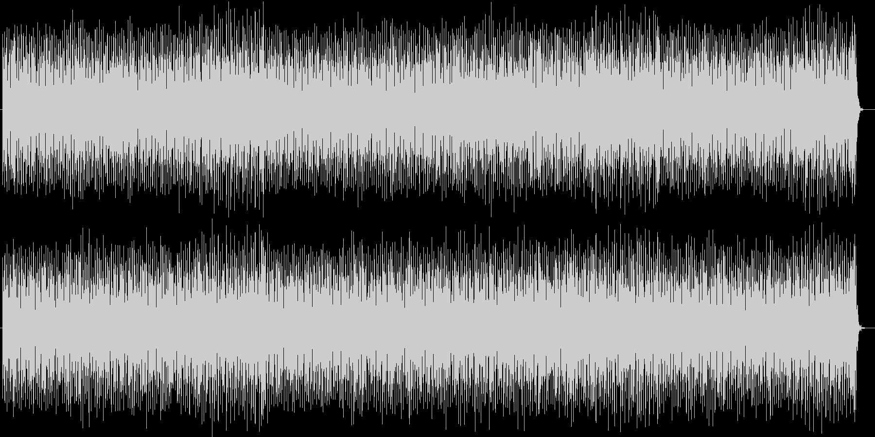 緊迫感漂う音色の早いテンポが特徴のテクノの未再生の波形