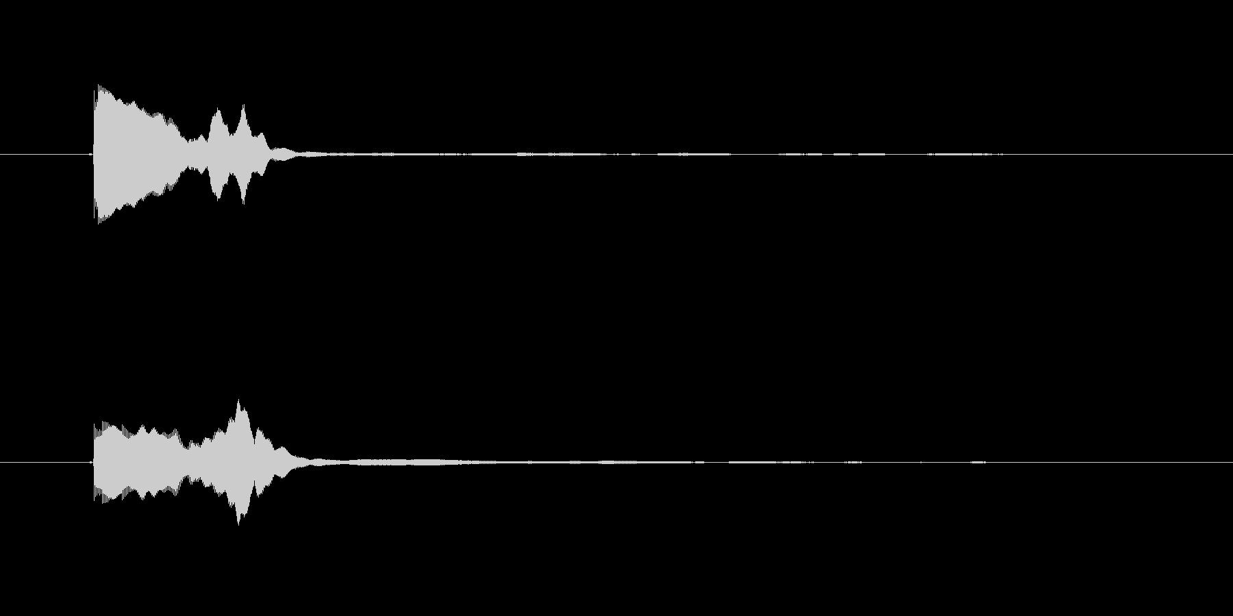 ゲームコマンド音1 選択音 K11の未再生の波形