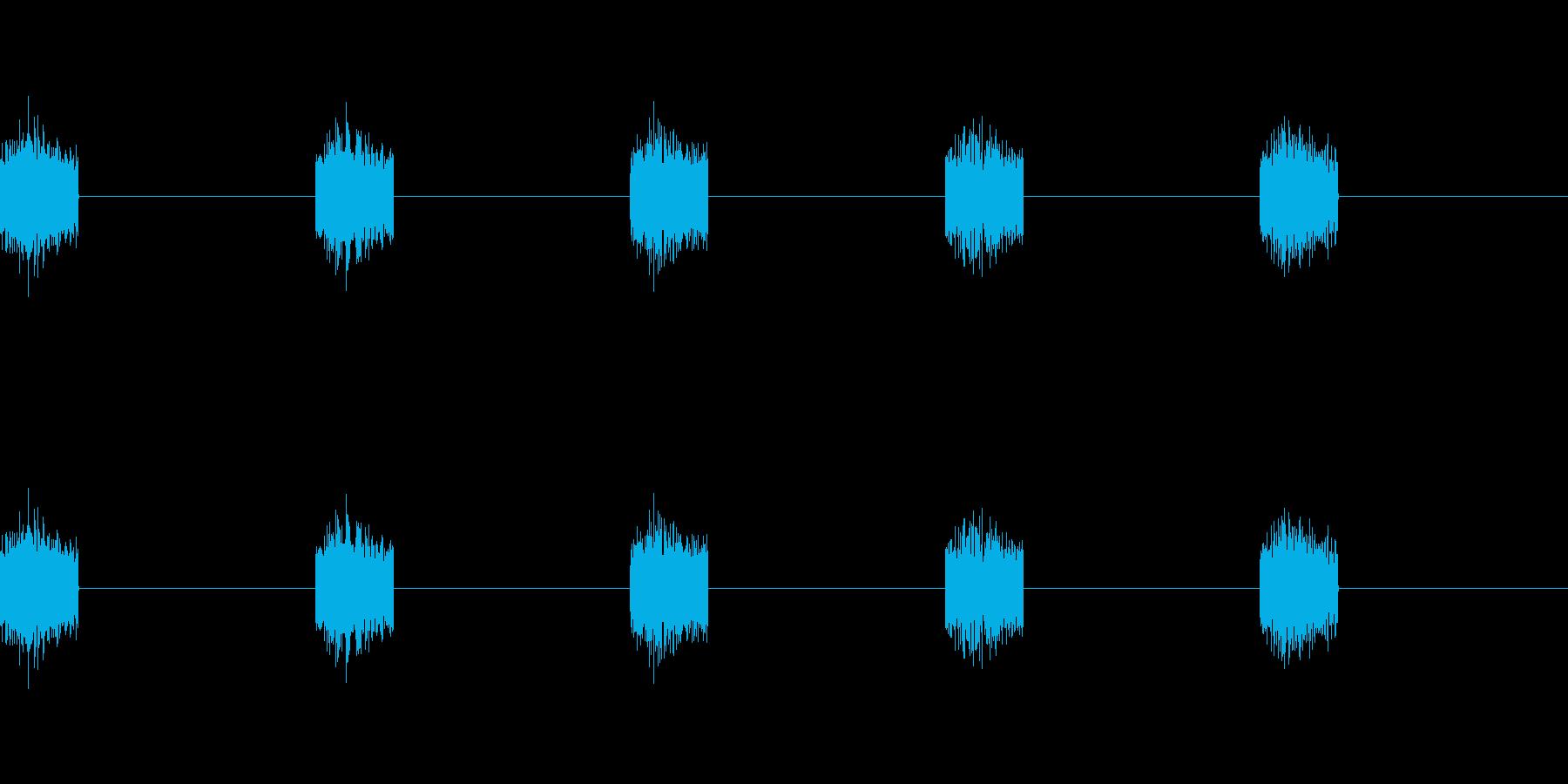 シュイ×5(5列スロットが止まる音)の再生済みの波形