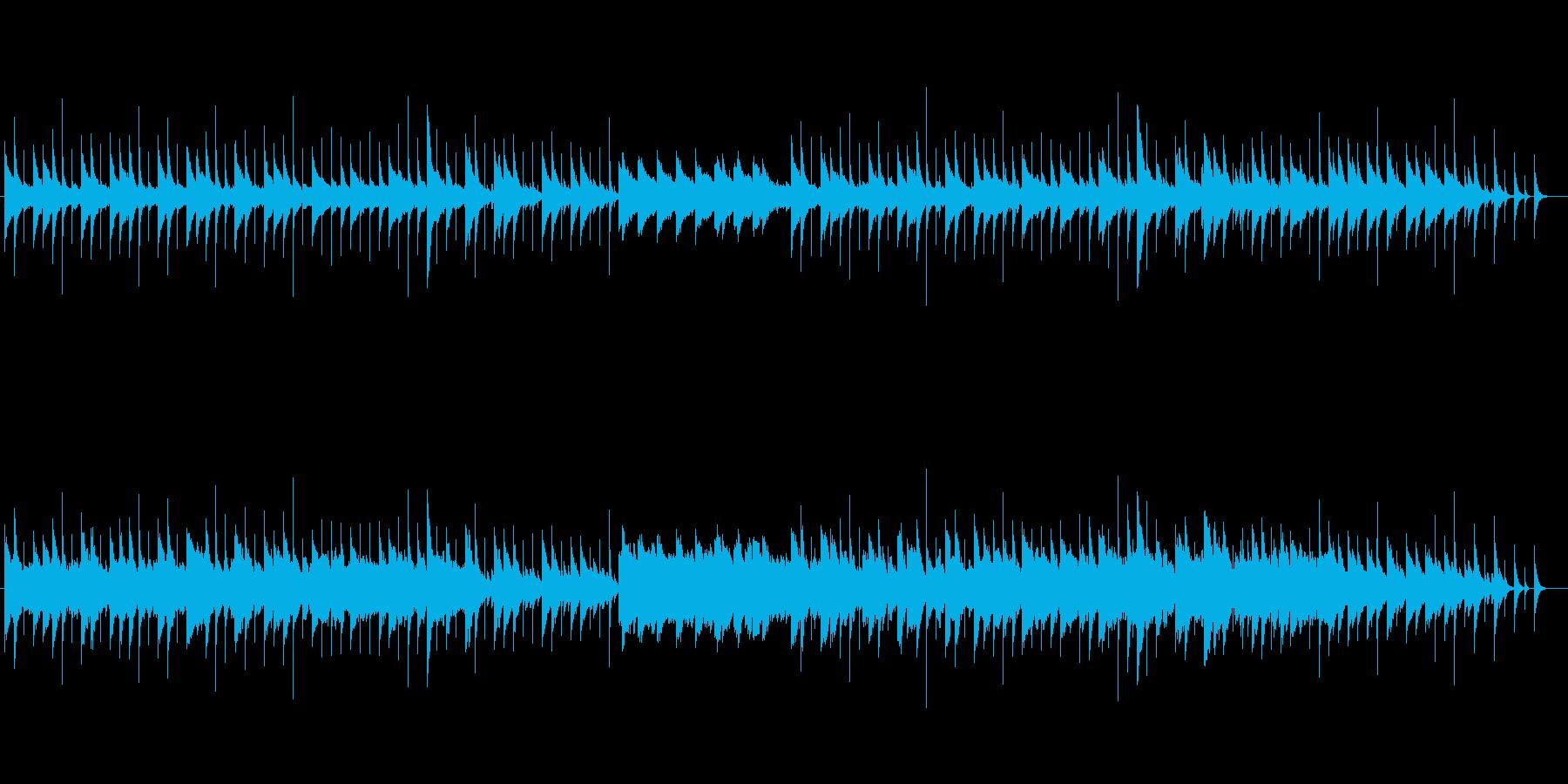 かわいくてアップテンポな音楽の再生済みの波形