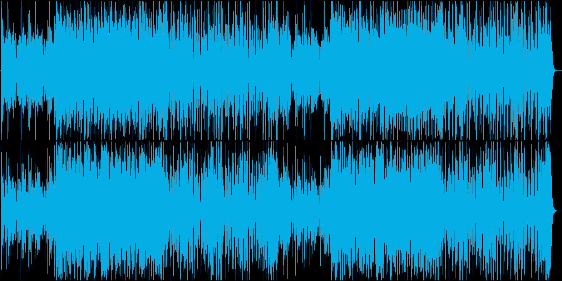 やや明るくゆったりした和風曲の再生済みの波形