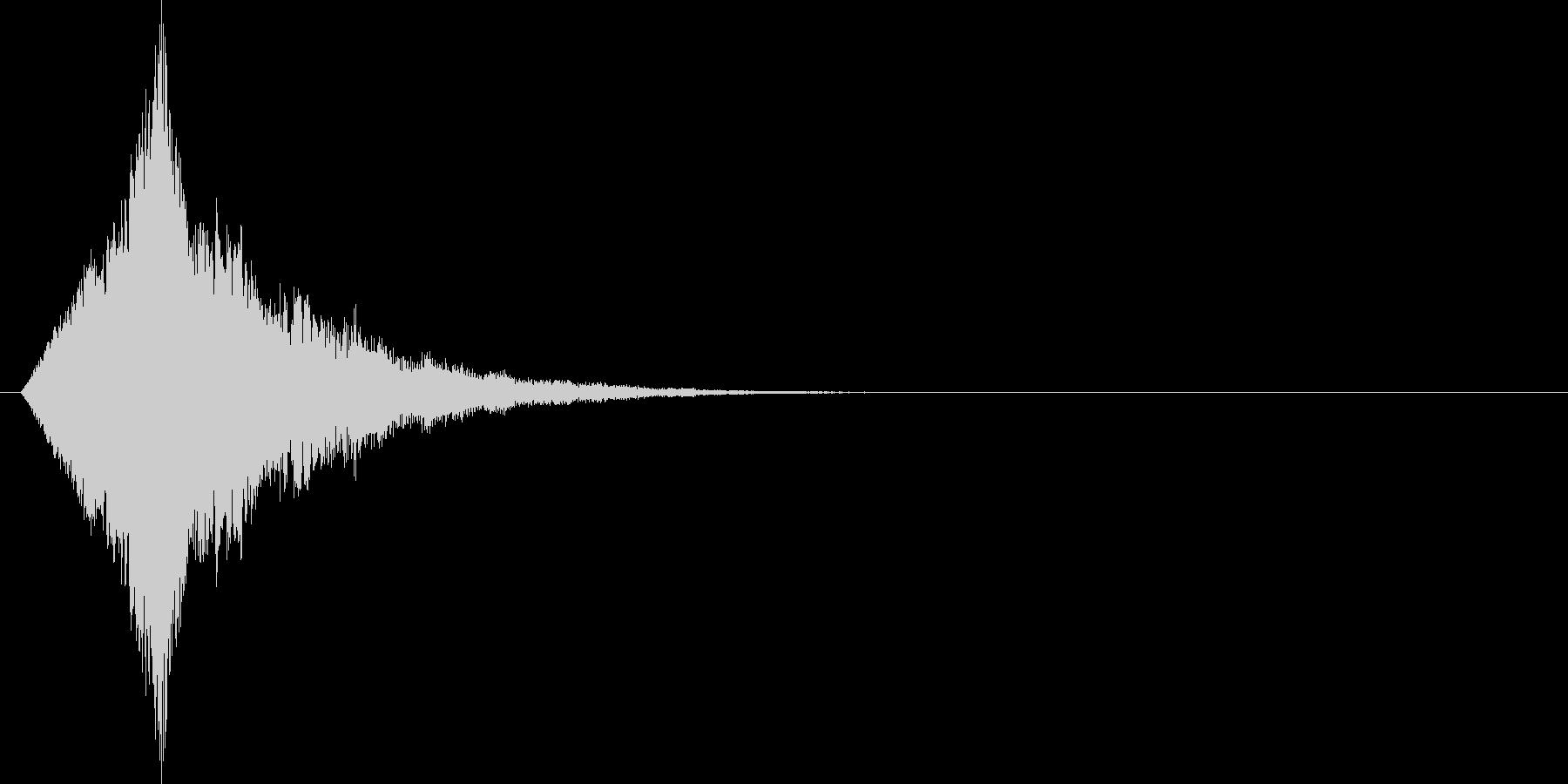 宇宙的な雰囲気のキラキラ系効果音の未再生の波形