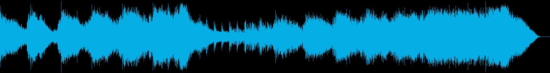 映画のトレイラーやPVの壮大な音源 の再生済みの波形