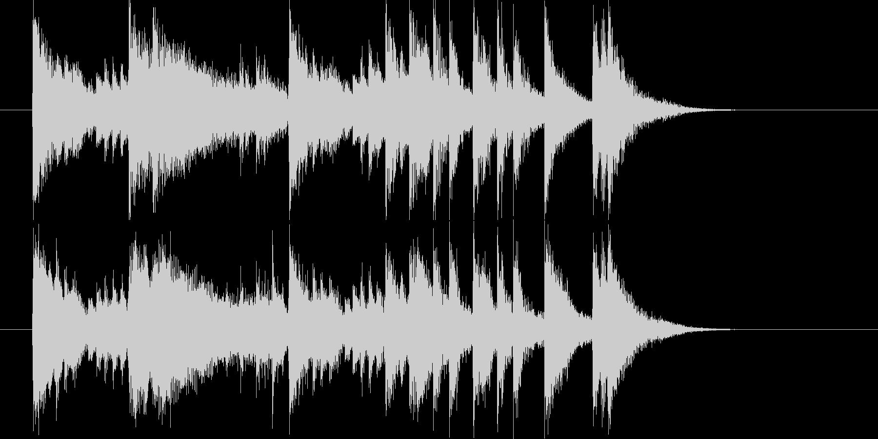 メロディアスで軽快なピアノジングルの未再生の波形