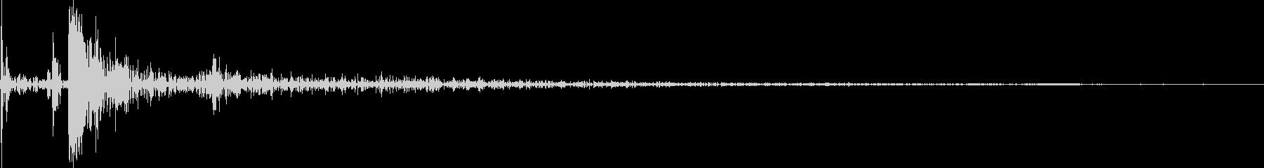 将棋の駒を盤面に置く音の未再生の波形