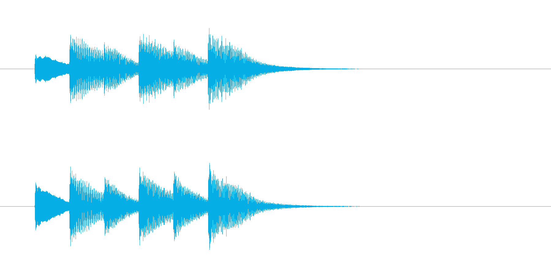 ATM操作終了音の再生済みの波形