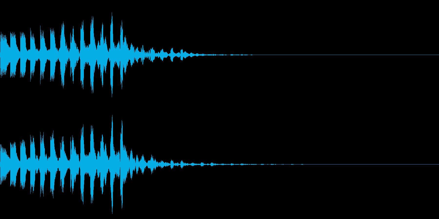 シンプルな効果音 シンセの半音階の再生済みの波形