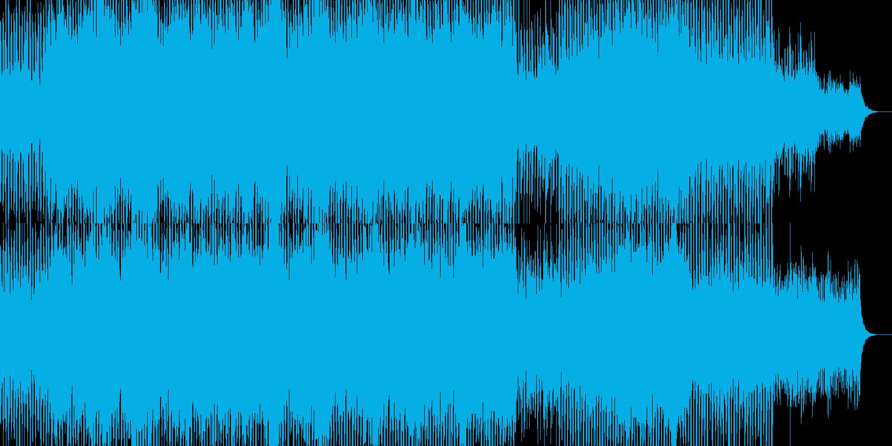 未来都市のイメージのアーバンミュージックの再生済みの波形
