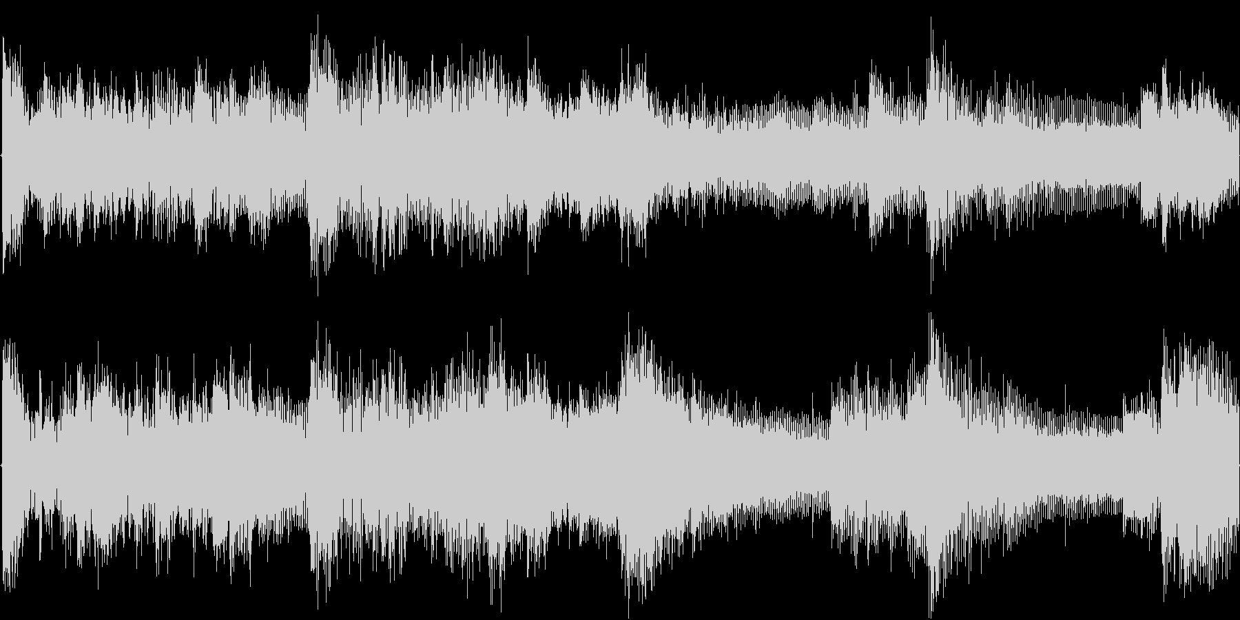 緊張感漂うシンセ・ピアノアンビエントの未再生の波形