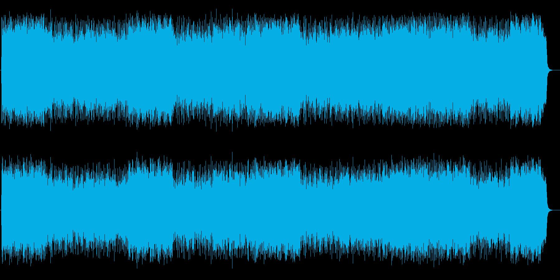 明るく楽しいシンセサイザーサウンドの再生済みの波形