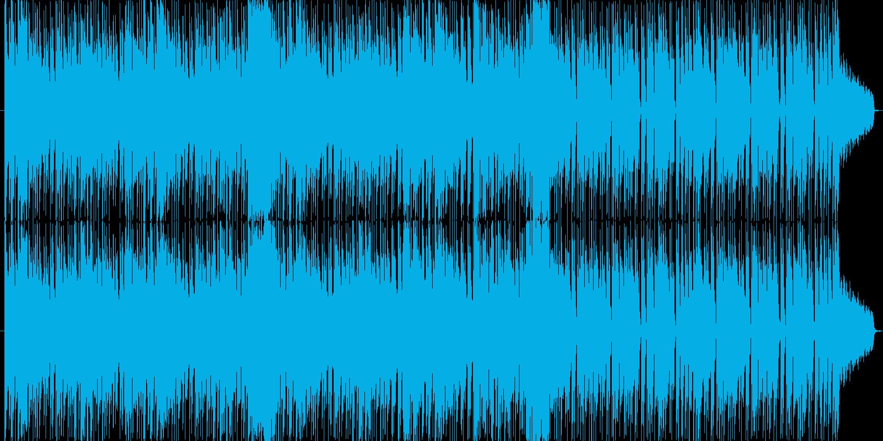 サックスがかっこいいおしゃれ曲の再生済みの波形