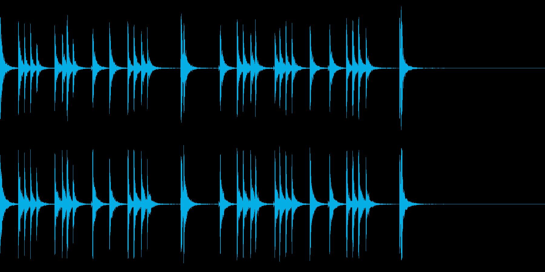 カスタネット!フラメンコフレーズ3の再生済みの波形