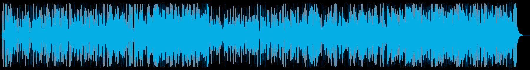 爽快で楽しげなシンセやピアノポップスの再生済みの波形