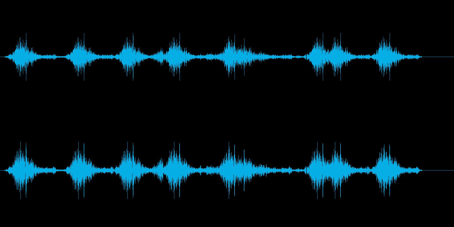急いで字を書く効果音の再生済みの波形