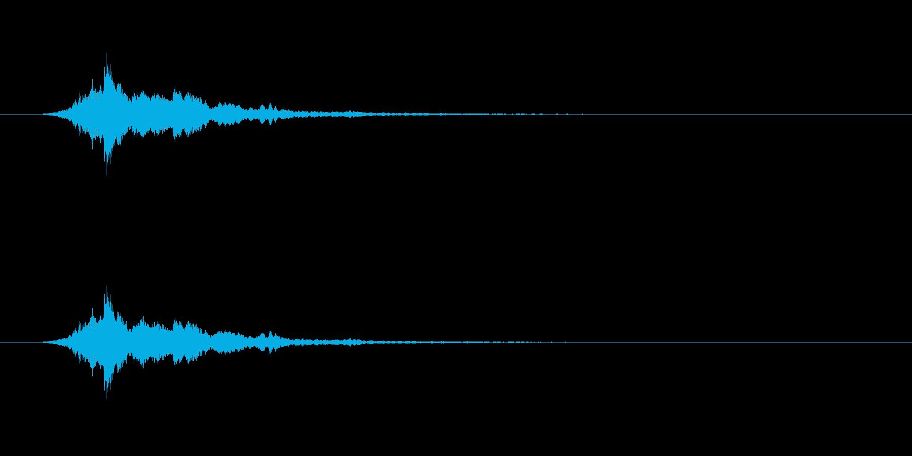 【アクセント12-1】の再生済みの波形