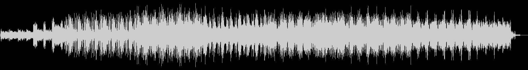 クールな雰囲気のエレクトロニック音楽の未再生の波形