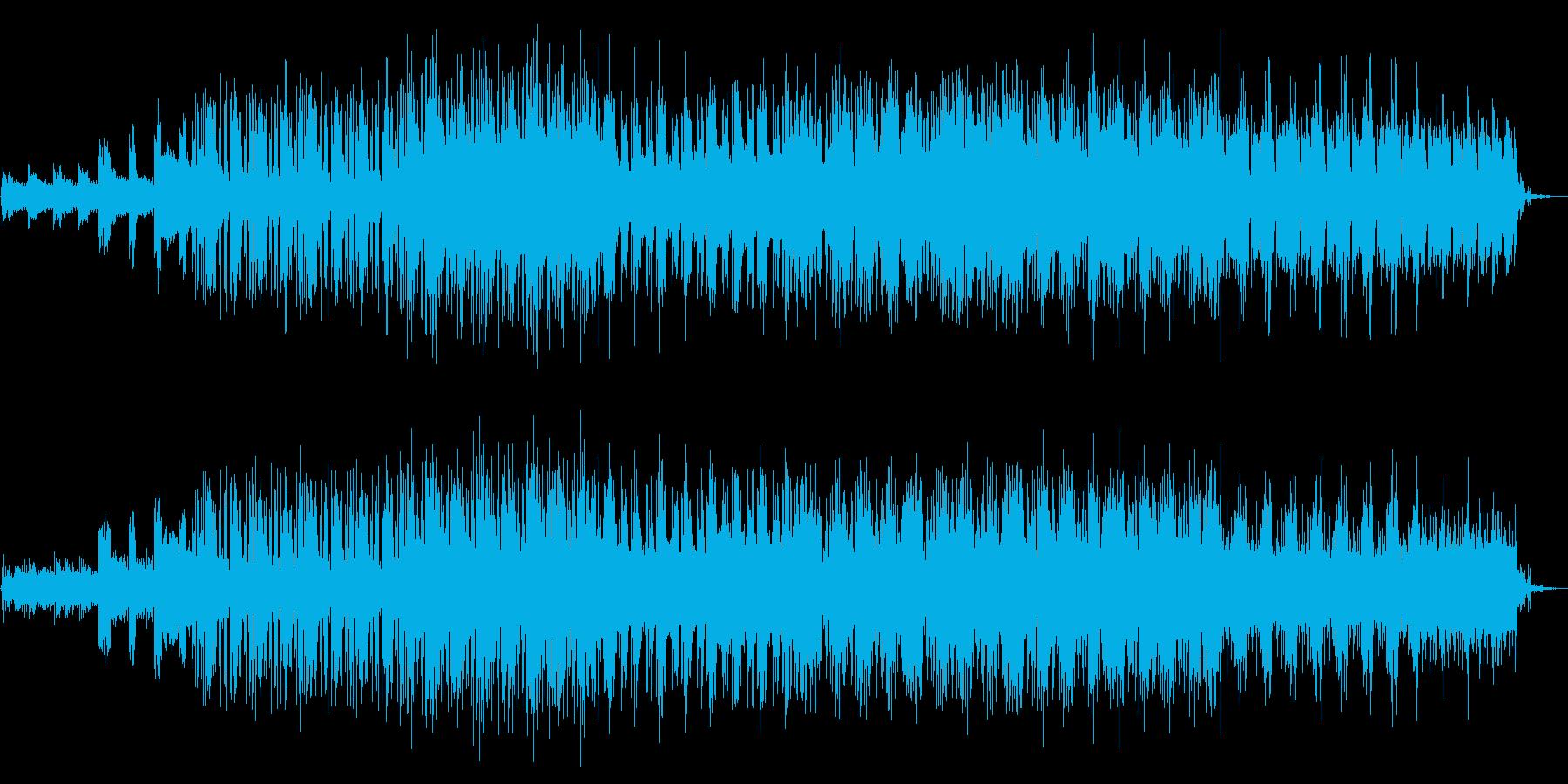 クールな雰囲気のエレクトロニック音楽の再生済みの波形