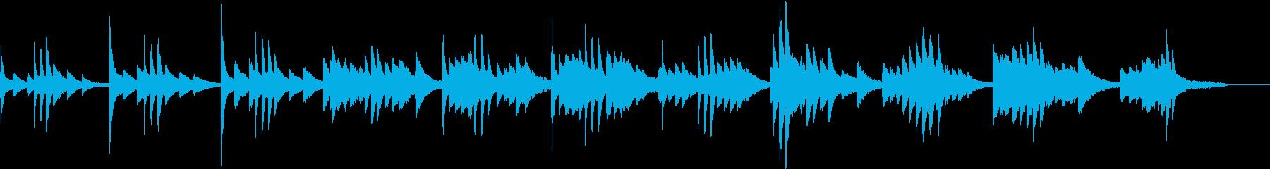 BGM用寂しいピアノの再生済みの波形