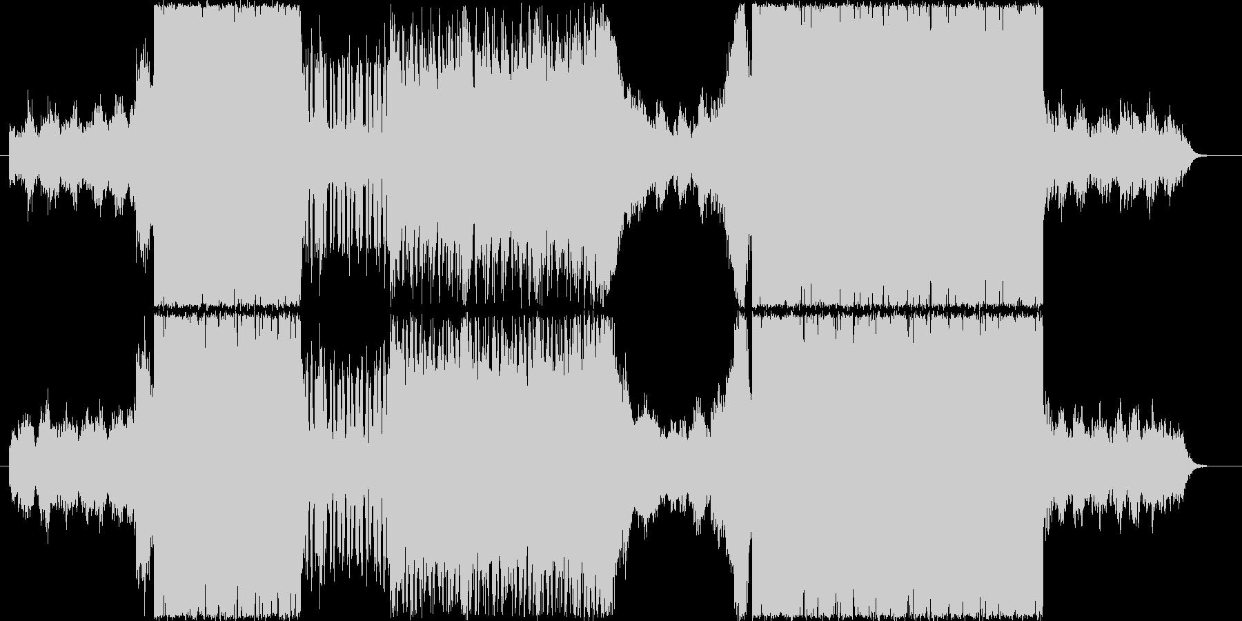 スロー&アップテンポのカッコイイ打ち込みの未再生の波形