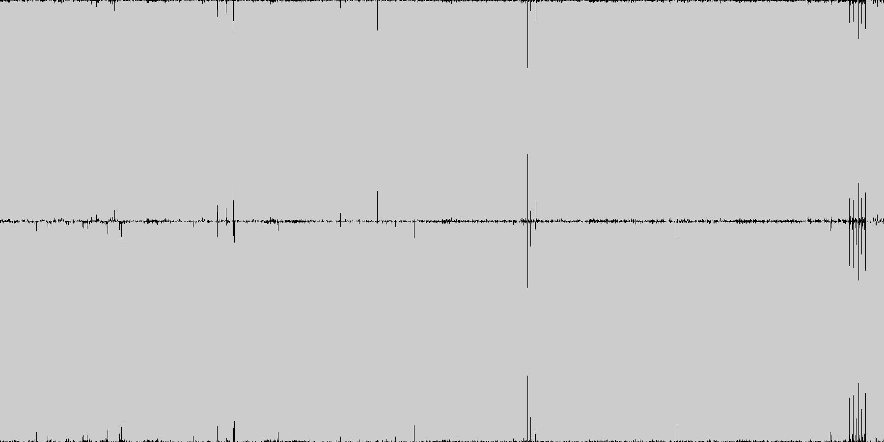攻撃的ハードコアテクノ・ガバ・ループ◯の未再生の波形