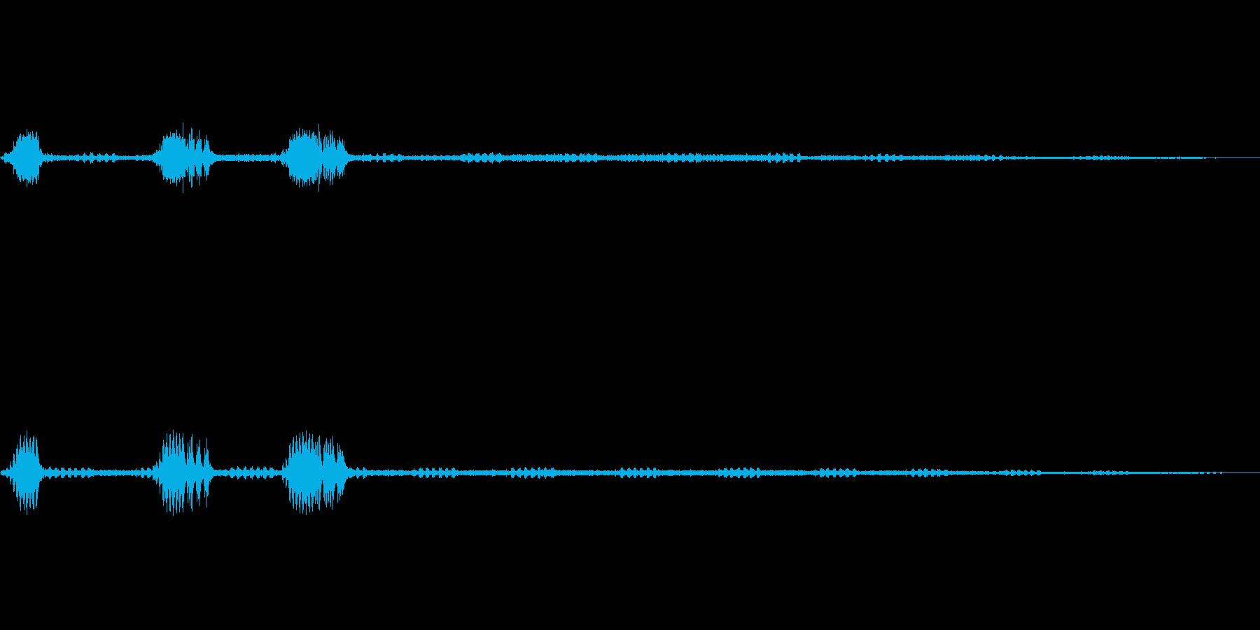 鈴虫,コオロギが鳴く秋の夜の効果音!03の再生済みの波形