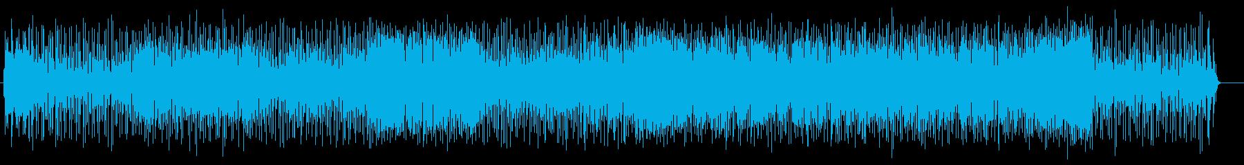 ゲームBGMコミカル電子音サウンドの再生済みの波形